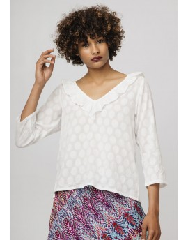 TOP DE JACQUARD BLANCO